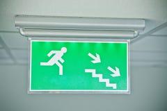 σημάδι εξόδων κινδύνου Στοκ Φωτογραφία