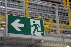 Σημάδι εξόδων κινδύνου Στοκ Εικόνες