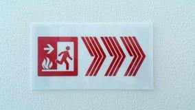 Σημάδι εξόδων πυρκαγιάς Στοκ Εικόνες