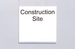 Σημάδι «εργοτάξιο οικοδομής» Στοκ Εικόνα