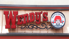 Σημάδι εστιατορίων γρήγορου φαγητού της Wendy ` s στοκ εικόνες