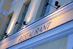 σημάδι εστιατορίων Στοκ Εικόνες