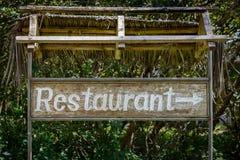 Σημάδι εστιατορίων Στοκ εικόνα με δικαίωμα ελεύθερης χρήσης