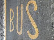 Σημάδι λεωφορείων Στοκ εικόνα με δικαίωμα ελεύθερης χρήσης