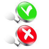 Σημάδι ελέγχου pushpins Διανυσματική απεικόνιση