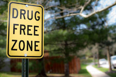 Σημάδι ελεύθερων ζωνών φαρμάκων στοκ εικόνα με δικαίωμα ελεύθερης χρήσης