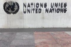 Σημάδι Ηνωμένων Εθνών σε έναν τοίχο Στοκ εικόνα με δικαίωμα ελεύθερης χρήσης