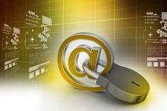 Σημάδι ηλεκτρονικού ταχυδρομείου με το λουκέτο Στοκ εικόνες με δικαίωμα ελεύθερης χρήσης