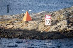 Σημάδι θάλασσας/σημάδι ναυσιπλοΐας Στοκ Εικόνες