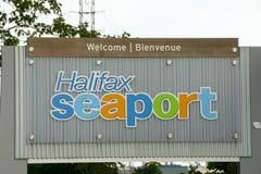 Σημάδι θαλάσσιων λιμένων του Χάλιφαξ - Νέα Σκοτία - Καναδάς Στοκ Εικόνες