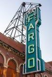 Σημάδι θεάτρων Fargo Στοκ Εικόνα