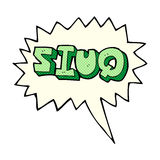 σημάδι διαγωνισμοου γνώσεων κινούμενων σχεδίων με τη λεκτική φυσαλίδα Στοκ φωτογραφία με δικαίωμα ελεύθερης χρήσης
