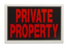 Σημάδι ιδιωτικών ιδιοκτησιών Στοκ Εικόνα