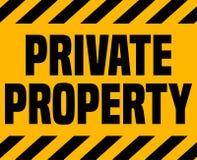 Σημάδι ιδιωτικών ιδιοκτησιών Στοκ εικόνες με δικαίωμα ελεύθερης χρήσης