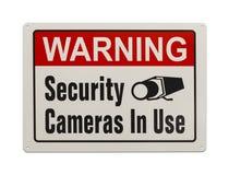 Σημάδι κάμερων ασφαλείας Στοκ εικόνες με δικαίωμα ελεύθερης χρήσης
