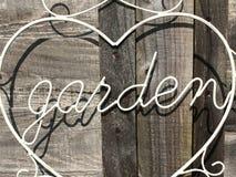 Σημάδι κήπων Στοκ εικόνες με δικαίωμα ελεύθερης χρήσης