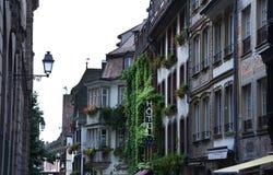 Σημάδι και οδός ξενοδοχείων στο Στρασβούργο, Γαλλία 2016 Στοκ φωτογραφία με δικαίωμα ελεύθερης χρήσης