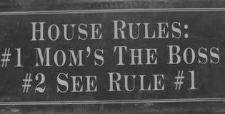 Σημάδι κανόνων σπιτιών Στοκ εικόνες με δικαίωμα ελεύθερης χρήσης
