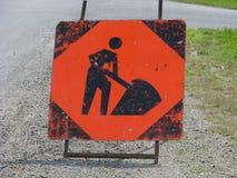 Σημάδι κατασκευής Στοκ εικόνα με δικαίωμα ελεύθερης χρήσης
