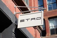 Σημάδι καταστημάτων Etro στην οδό Greene, στη Νέα Υόρκη Στοκ φωτογραφία με δικαίωμα ελεύθερης χρήσης