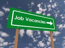Σημάδι κενών θέσεων εργασίας Στοκ Φωτογραφία