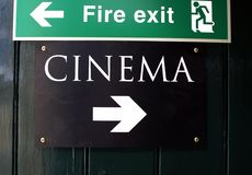 Σημάδι κινηματογράφων Στοκ Εικόνες
