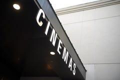 Σημάδι κινηματογράφων Στοκ φωτογραφία με δικαίωμα ελεύθερης χρήσης