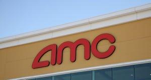 Σημάδι κινηματογράφων AMC Στοκ εικόνα με δικαίωμα ελεύθερης χρήσης