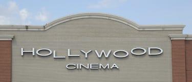 Σημάδι κινηματογράφων Hollywood Στοκ φωτογραφία με δικαίωμα ελεύθερης χρήσης