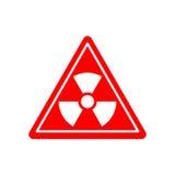 Σημάδι κινδύνου ακτινοβολίας Χημικοί κίνδυνοι προσοχής Προειδοποιητικό σημάδι ελεύθερη απεικόνιση δικαιώματος