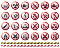 Σημάδι κινδύνου απαγόρευσης Στοκ Εικόνα