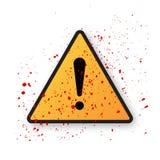 Σημάδι κινδύνου θαυμαστικών Στοκ εικόνα με δικαίωμα ελεύθερης χρήσης