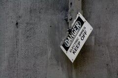 σημάδι κινδύνου Στοκ εικόνες με δικαίωμα ελεύθερης χρήσης