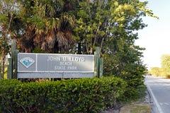 Σημάδι κρατικών πάρκων παραλιών του U Lloyd του John στοκ εικόνες