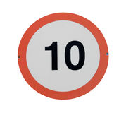 Σημάδι κυκλοφορίας ορίου ταχύτητας Στοκ εικόνες με δικαίωμα ελεύθερης χρήσης