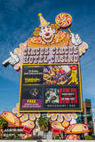 Σημάδι Λας Βέγκας τσίρκων τσίρκων Στοκ Φωτογραφίες