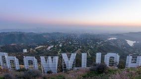 Σημάδι Λος Άντζελες Hollywood απόθεμα βίντεο