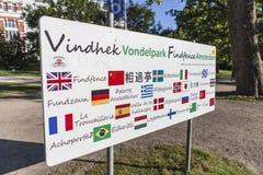 Σημάδι με τα countryflags Στοκ εικόνες με δικαίωμα ελεύθερης χρήσης