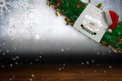 Σημάδι με τη Χαρούμενα Χριστούγεννα και καλή χρονιά Στοκ φωτογραφία με δικαίωμα ελεύθερης χρήσης