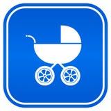 σημάδι μωρών carriag Στοκ Φωτογραφία