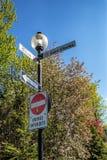 Σημάδι Μόντρεαλ οδών στοκ φωτογραφία