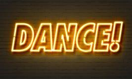 Σημάδι νέου χορού Στοκ Εικόνες