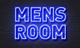 Σημάδι νέου δωματίων ατόμων στο υπόβαθρο τουβλότοιχος Στοκ Φωτογραφία