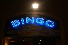 Σημάδι νέου Bingo τη νύχτα Στοκ φωτογραφία με δικαίωμα ελεύθερης χρήσης