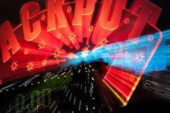 Σημάδι νικητών τζακ ποτ από τη χαρτοπαικτική λέσχη Στοκ Φωτογραφίες