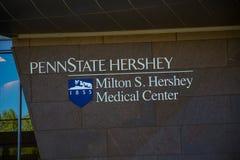 Σημάδι νοσοκομείων κρατικού Hershey Penn Στοκ Εικόνες