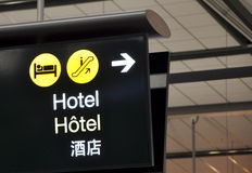 Σημάδι ξενοδοχείων Στοκ Εικόνα