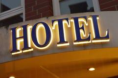 Σημάδι ξενοδοχείων Στοκ φωτογραφία με δικαίωμα ελεύθερης χρήσης