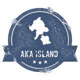 Σημάδι λογότυπων νησιών Aka Απεικόνιση αποθεμάτων
