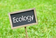 Σημάδι οικολογίας Στοκ φωτογραφίες με δικαίωμα ελεύθερης χρήσης